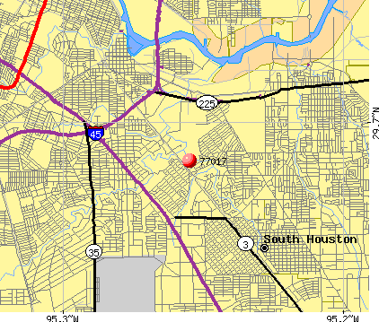 Houston, TX (77017) map