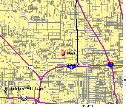 Houston, TX (77018) map