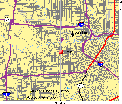 Houston, TX (77019) map