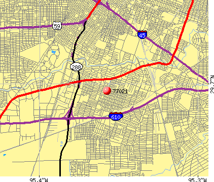 Houston, TX (77021) map