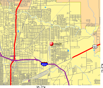 Houston, TX (77028) map