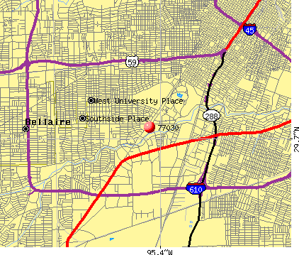 Houston, TX (77030) map