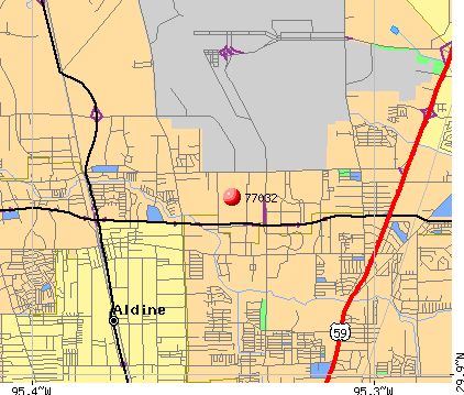 Houston, TX (77032) map