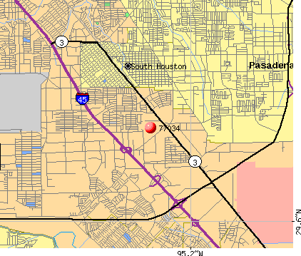 Houston, TX (77034) map