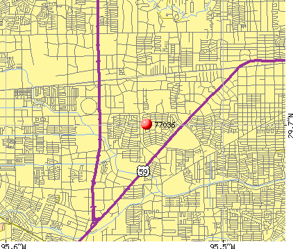 Houston, TX (77036) map
