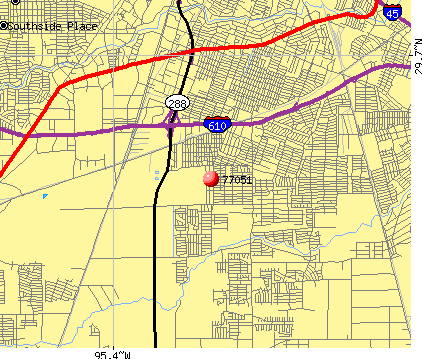 Houston, TX (77051) map