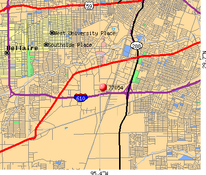 Houston, TX (77054) map