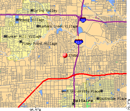 Houston, TX (77056) map