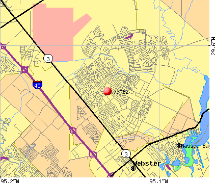 Houston, TX (77062) map