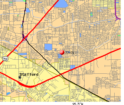 Houston, TX (77071) map