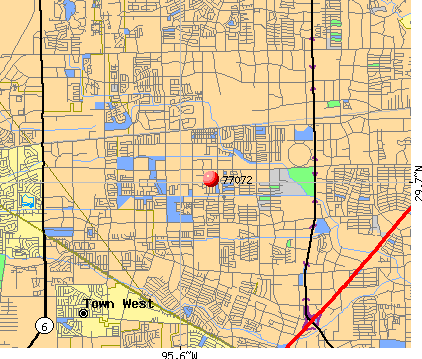 Houston, TX (77072) map