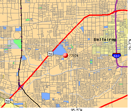 Houston, TX (77074) map