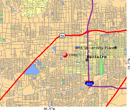 Houston, TX (77081) map