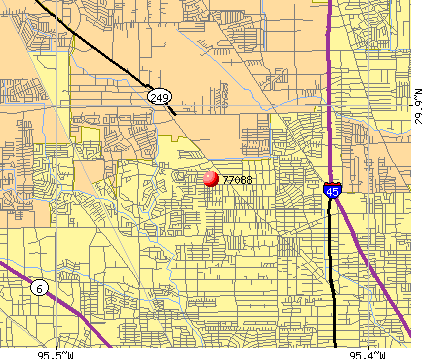 Houston, TX (77088) map