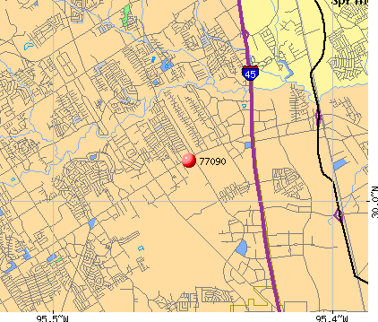 Houston, TX (77090) map