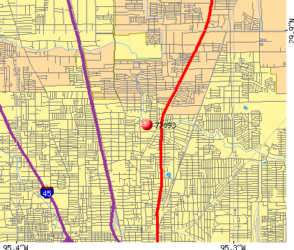 Houston, TX (77093) map