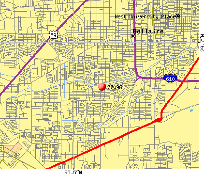 Houston, TX (77096) map