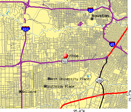 Houston, TX (77098) map