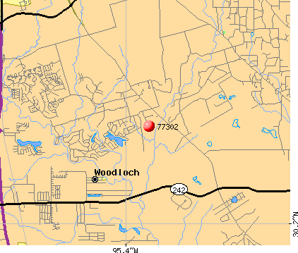Conroe, TX (77302) map