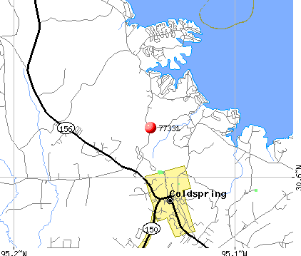 Cape Royale, TX (77331) map