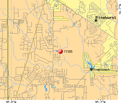 Stagecoach, TX (77355) map