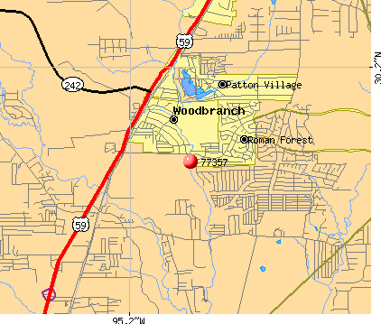 Woodbranch, TX (77357) map
