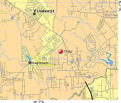 Pinehurst, TX (77362) map