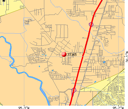 Porter Heights, TX (77365) map