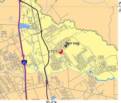 Spring Texas Zip Code Map