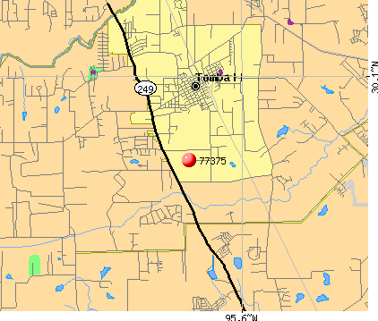 Tomball, TX (77375) map