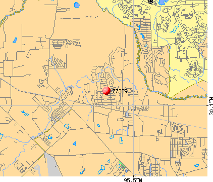 The Woodlands, TX (77389) map