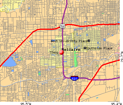 Bellaire, TX (77401) map