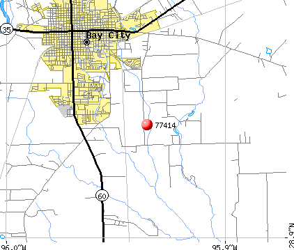 Bay City, TX (77414) map