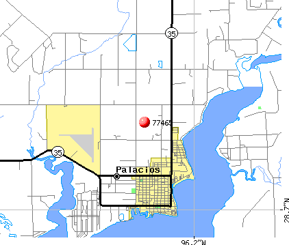 Palacios, TX (77465) map