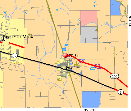 Waller, TX (77484) map