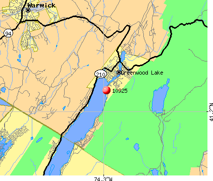 Greenwood Lake, NY (10925) map