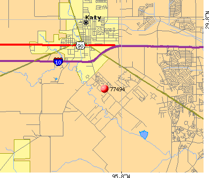 Katy, TX (77494) map