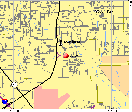 Pasadena, TX (77505) map