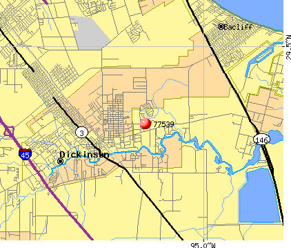 Texas City, TX (77539) map