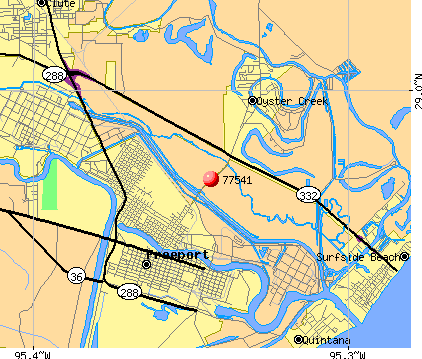 Freeport, TX (77541) map