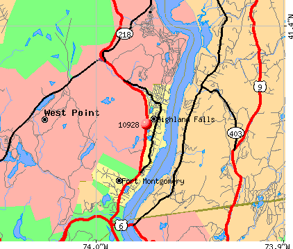 West Point, NY (10928) map