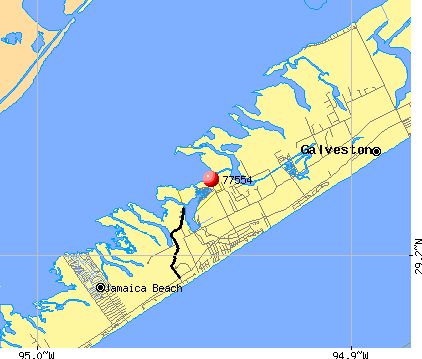 Galveston, TX (77554) map