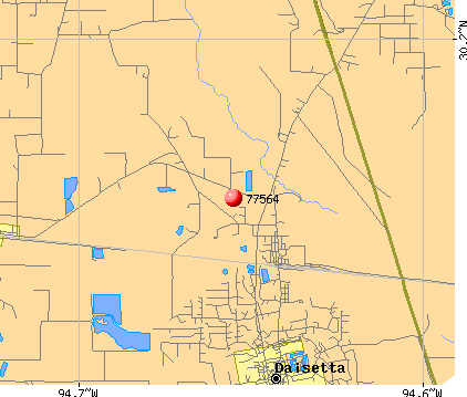 Hull, TX (77564) map