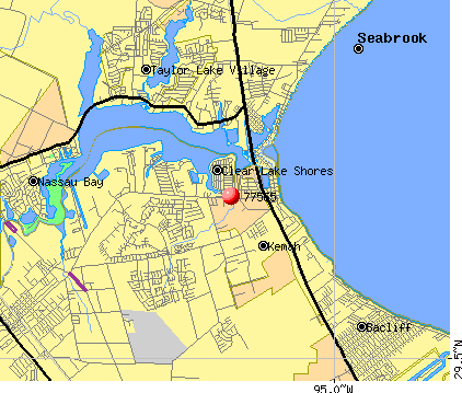 Kemah, TX (77565) map