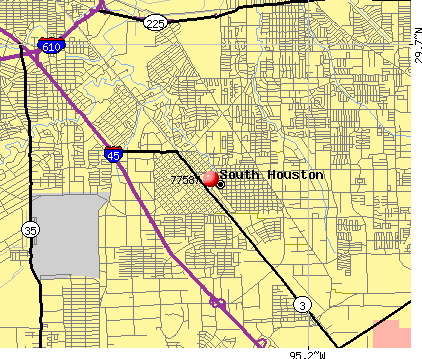 South Houston, TX (77587) map