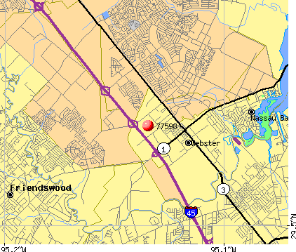 Webster, TX (77598) map