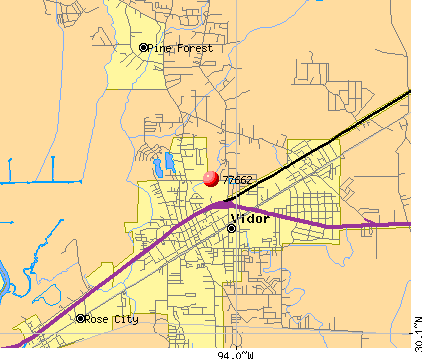 Vidor, TX (77662) map