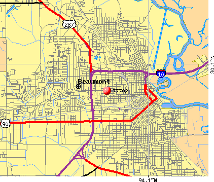Beaumont, TX (77702) map