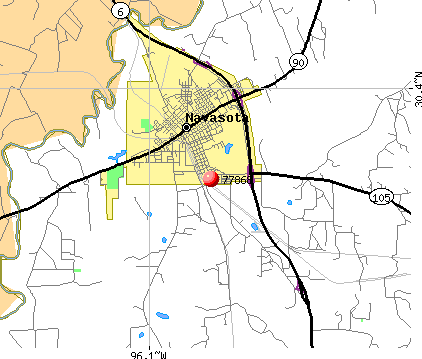 Navasota, TX (77868) map