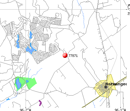 Hilltop Lakes, TX (77871) map